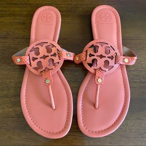 Tory Burch Miller Coral Sandals